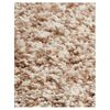 KAS Rugs Sofia Shag Ivory Heather Rectangular Indoor Shag Throw Rug (Common: 3 x 5; Actual: 39-in W x 63-in L x 0-ft Dia)