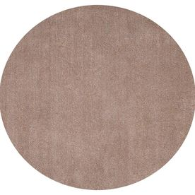 KAS Rugs Sofia 8-ft x 8-ft Round Brown Transitional Area Rug BLIL0518X8RO