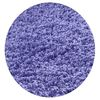 KAS Rugs Sofia Shag Purple Round Indoor Shag Area Rug (Common: 8 x 8; Actual: 96-in W x 96-in L x 8-ft Dia)