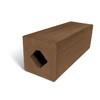 MoistureShield Walnut Composite Deck Post (Common: 4-in x 4-in x 4-1/2-ft; Actual: 4.265-in x 4.265-in x 4.25-ft)