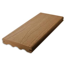 ChoiceDek Foundations Harvest Brown Groove Composite Deck Board (Actual: 1-in x 5.4-in x 16-ft)