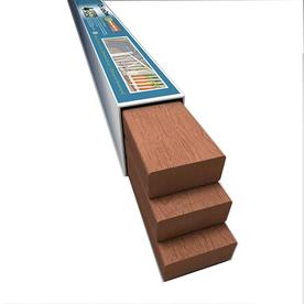 ChoiceDek Foundations 3-Pack Coastal Redwood Composite Deck Universal Rails (Common: 2-in x 4-in x 6-ft; Actual: 1.47-in x 3.41-in x 6-ft)
