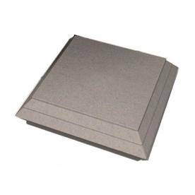 ChoiceDek Foundations Foundations Beach House Gray Composite Deck Post Cap (Fits Common Post Measurement: 6-in x 6-in; Actual: 5.67-in x 1.8-in x 5.67-in)