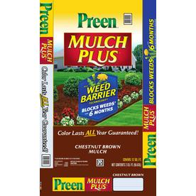 Preen 2 cu ft Brown Shredded Hardwood Mulch