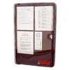 Doc-Box Bulletin Board 20.625-in W x 30.5-in H x 4.5-in D Plastic Clear UV Cover with Black Base Lockable Permit Box