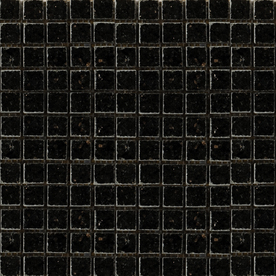 Emser 12-in x 12-in Galaxy Black Square Mount on 1/2-in x 1/2-in Mesh Indoor/Outdoor Natural Granite Floor Tile