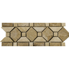 Emser 11-in x 4-in Carisbo Listello Natural Travertine Wall and Floor Tile