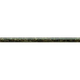 """Emser 12"""" x 1"""" Ubatuba Green Cigaro Granite Tile"""