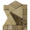 Emser 4-in x 4-in Pisa Polished/Tumbled Listello Corner Natural Travertine Wall and Floor Tile
