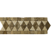 Emser 12-in x 4-in Pisa Polished/Tumbled Listello Natural Travertine Wall and Floor Tile