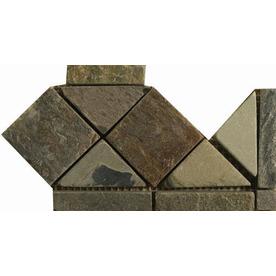 Emser 4-in x 6-in Multicolor Natural Slate Floor Tile