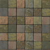 Emser 12-in x 12-in Multi Rajah Mosaic Mesh Natural Slate Wall and Floor Tile