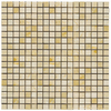 Emser 12-in x 12-in Crema Marfil Square Mount Mesh Natural Marble Wall and Floor Tile