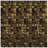 Emser 12-in x 12-in Marrone Emperador Dark Square Mount Mesh Natural Marble Wall and Floor Tile
