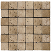 Emser 12-in x 12-in Ancient Mocha Square Mount Mesh Natural Travertine Wall and Floor Tile