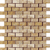 Emser 12-in x 12-in Ancient Oro Offset Mesh Natural Travertine Wall and Floor Tile