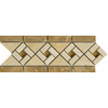 Emser 12-in x 4-in Corona Listello Natural Travertine Wall and Floor Tile
