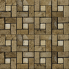 Emser 12-in x 12-in Pinwheel Mount Mocha and Beige Natural Travertine Wall and Floor Tile
