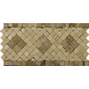 Emser 12-in x 6-in Tholos Rombo Listello Natural Travertine Wall and Floor Tile