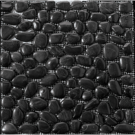 Emser 12-in x 12-in Black Mosaic Natural Wall and Floor Tile