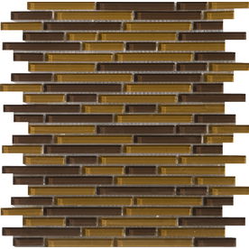 Emser Lucente Torcello Glass Wall Tile (Common: 12-in x 12-in; Actual: 12.67-in x 12.67-in)