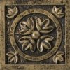 Emser 2-in x 2-in Camelot Guinevere Bronze Metal Square Accent Tile