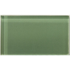 Emser Lucente Billard Green Glass Wall Tile (Common: 3-in x 6-in; Actual: 3.15-in x 6.43-in)