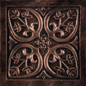Emser Camelot Copper Metal Square Accent Tile (Common: 4-in x 4-in; Actual: 4-in x 4-in)