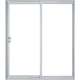 Milgard Style Line 59 5 In Clear Glass White Vinyl Sliding Patio Door