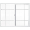 Milgard Style Line Left-Operable Vinyl Double Pane Single Strength New Construction Egress Sliding Window (Rough Opening: 72-in x 72-in; Actual: 71.5-in x 71.5-in)