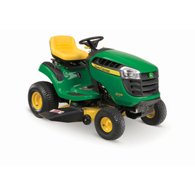 John Deere 100 Series 17.5 HP Automatic 42-in Riding Lawn Mower with Briggs & Stratton Engine
