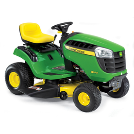 John Deere D100 17.5 HP Manual 42-in Riding Lawn Mower with Briggs &amp; Stratton Engine