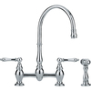 Franke Farm House Chrome 2-Handle High-Arc Kitchen Faucet with Side Spray