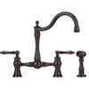 Franke Farm House Old World Bronze 2-Handle High-Arc Kitchen Faucet with Side Spray