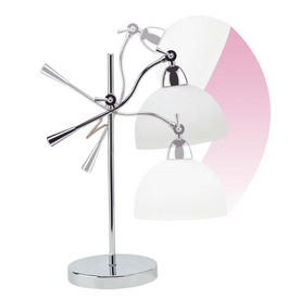 OttLite 13-in Adjustable Chrome Desk Lamp with Glass Shade