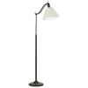 "OttLite 60-1/2"" Antiqued Bronze Floor Lamp with Off White Shade"