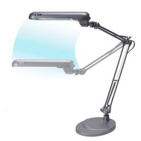 OttLite 38-in Adjustable Gray Desk Lamp with Plastic Shade