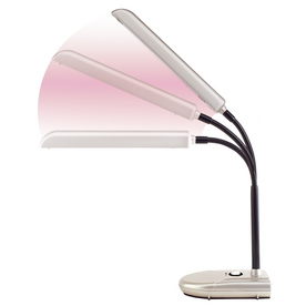 OttLite 18-in Adjustable Desk Lamp with Plastic Shade