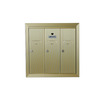 Florence 19-in x 19-in Metal Powder-Coat Gold Lockable Cluster Mailbox