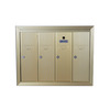 Florence 24-in x 19-in Metal Powder-Coat Gold Lockable Cluster Mailbox