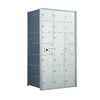 Florence 26-in x 19-in Metal Silver Lockable Cluster Mailbox
