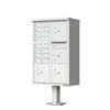 Florence Vital 30.5-in x 62-in Metal Postal Grey Lockable Cluster Mount Cluster Mailbox
