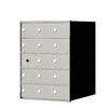 Florence 1400 Series 20.8-in x 28-in Metal Anodized Aluminum Lockable Recessed Mount Cluster Mailbox