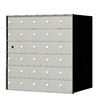 Florence 1400 Series 33.6-in x 33.4-in Metal Anodized Aluminum Lockable Recessed Mount Cluster Mailbox