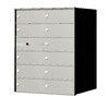 Florence 1400 Series 27.3-in x 33.4-in Metal Anodized Aluminum Lockable Recessed Mount Cluster Mailbox