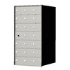 Florence 1400 Series 20.8-in x 38.8-in Metal Anodized Aluminum Lockable Recessed Mount Cluster Mailbox