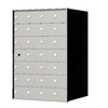 Florence 1400 Series 27.3-in x 38.8-in Metal Anodized Aluminum Lockable Recessed Mount Cluster Mailbox