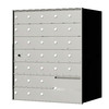 Florence 1400 Series 33.6-in x 38.8-in Metal Anodized Aluminum Lockable Recessed Mount Cluster Mailbox