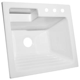 CorStone White Acrylic Self-Rimming Laundry Sink