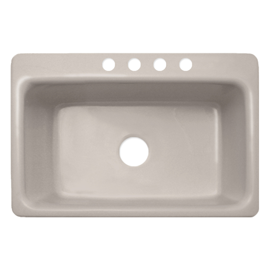 Shop CorStone Coventry Single-Basin Drop-in Acrylic Kitchen Sink at ...
